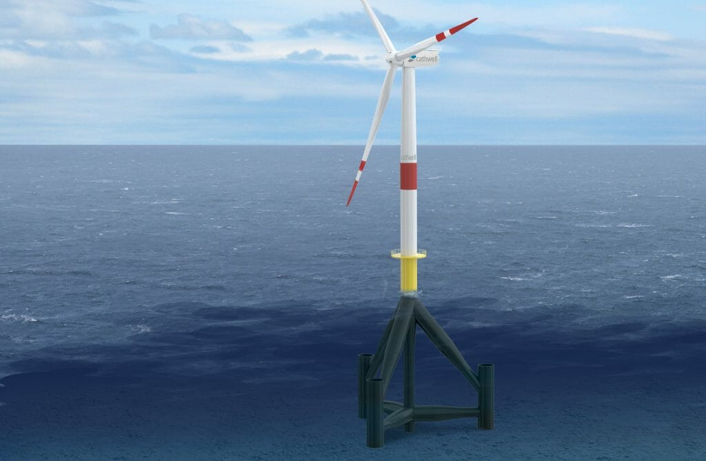 Offshore wind turbine tripod design